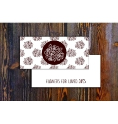 Card template with seamless pattern and floral vector