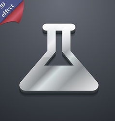 Conical flask icon symbol 3d style trendy modern vector
