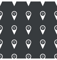 Straight black wi-fi pointer pattern vector