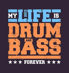 Drum bass typography vector