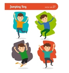 Jumping boy character vector