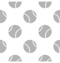 Seamless pattern with elements of baseballs vector