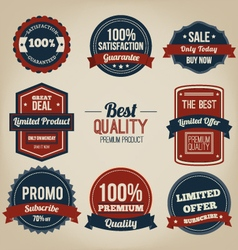 Premium quality vintage label design vector