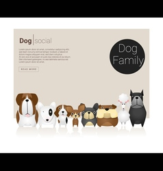 Animal banner with dog for web design 6 vector
