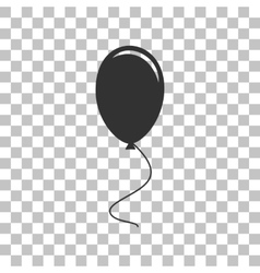 Balloon sign  dark gray icon on vector