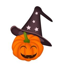 A Happy Jack-o-Lantern Pumpkin vector image vector image