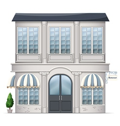 A restaurant building vector image vector image