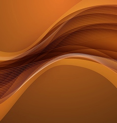 Abstract brown background with wave vector image vector image