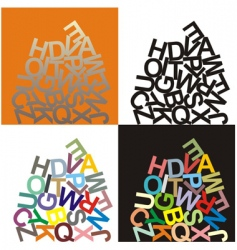 alphabet large letters vector image vector image