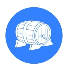 Beer barrel icon in black style isolated on white vector image vector image