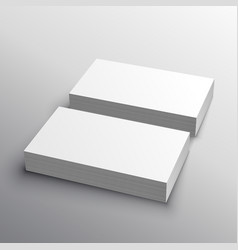 Business card mockup presentation for display vector
