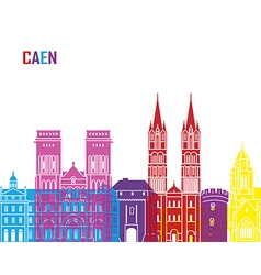 Caen skyline pop vector image vector image