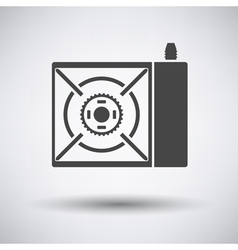 Camping gas burner stove icon vector image vector image