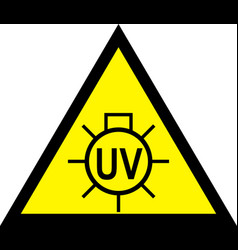 caution uv light do not look warning sign vector image
