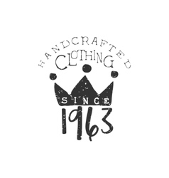 Clothing vintage emblem with the crown vector