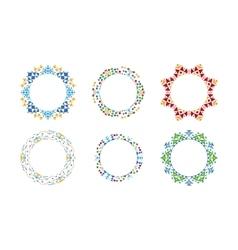 Colorful ethnic ornamental cirular frames vector image vector image