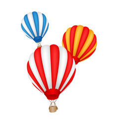 colorful hot air balloon vector image