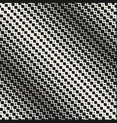 diagonal halftone mesh seamless pattern abstract vector image vector image