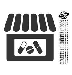 Drugstore icon with professional bonus vector