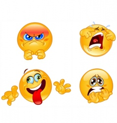 emotions emoticons vector image vector image