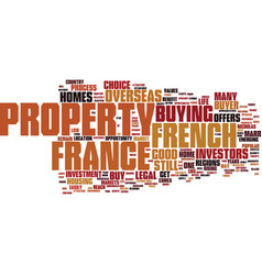 French homes why buy them text background word vector