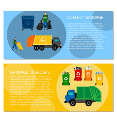 Garbage disposal concept banners vector