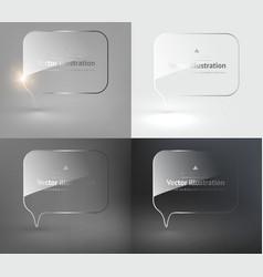Glass speech bubble design set vector