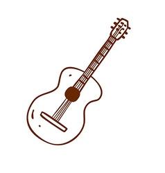 Hand drawn guitar vector
