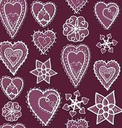 Heartssnowflakes04 vector
