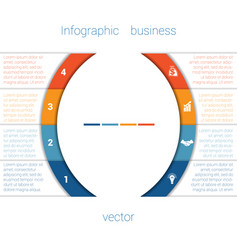 infographic strips and semicircle 4 vector image vector image
