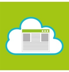 Pc cloud page language digital web vector