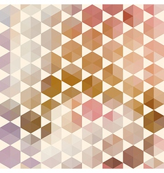 Retro pattern of geometric hexagon shapes vector image