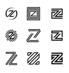 set letter z vector image