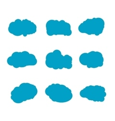 Set of blue sky clouds Cloud icon cloud shape vector image vector image