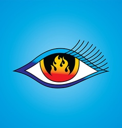 Flame eye symbol theme vector