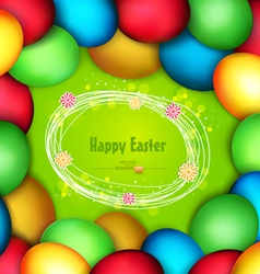 Frame of easter eggs vector