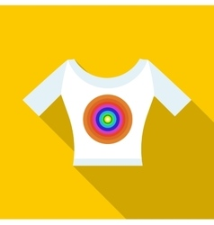 T shirt with a print icon flat style vector