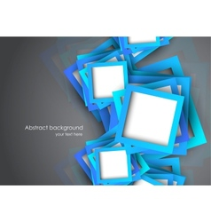 Abstract background with blue squares vector image