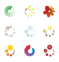 Download page icons set cartoon style vector
