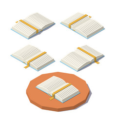 Low poly open book vector