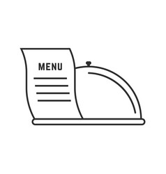 Thin line dish and menu icon vector