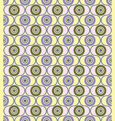 Abstract geometric pattern circle ornament polka vector