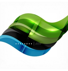 Futuristic braid looking wave background vector