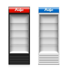 Glass door display fridge vector