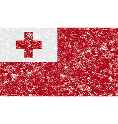 Flag of tonga with old texture vector