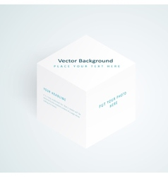 3d white cube vector image vector image