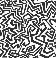Monochrome seamless maze pattern vector
