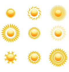 Shapes of sun vector