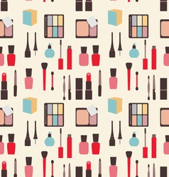 Seamless texture of beauty and makeup icons vector