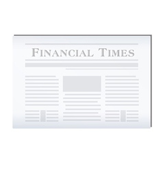 Newspaper financial vector